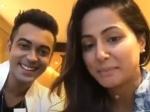 Finally Luv Tyagi Hina Khan Reunite Luv Says He Missed Hina A Lot Live Fans Luvina Fun