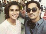 Siddharth And The Wink Girl Priya Varrier Pose A Selfie