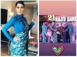 Hina Khan Bags Rajiv Gandhi Global Excellence Award 2018 Looks Gorgeous Blue Sari