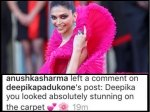 Anushka Sharma Ends Cold War With Deepika Padukone Praises Her Cannes Look In Pink Outfit