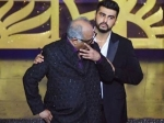Iifa 2018 Boney Kapoor Gets Teary Eyed On Collecting Sridevi S Award With Son Arjun By His Side