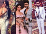Gold Awards 2018 Divyanka Vivek Nakuul Surbhi Others Pose Awards Night To Remember Tv Actors Pics