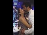 Rubina Dilaik Abhinav Shukla Seal It With Romantic Kiss Mumbai Reception Fans Find It Cute Pics Vid