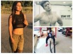 Hina Khan Throws Fitness Challenge To Her Boyfriend Rocky Luv Tyagi They Complete It Watch Videos