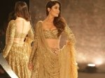Indian Couture Week 2018 Kareena Kapoor Khan Dons 30 Kgs Lehenga Looks Glittery Pictures
