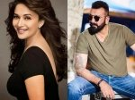 All Is Well Between Sanjay Dutt Madhuri Dixit Rumoured Exes Shoot Scenes Together For Kalank
