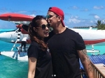 Prince Narula Yuvika Chaudhary Honeymoon In Maldives Enjoy Private Jet Ride Beaches Kisses