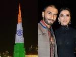 Dubai Burj Khalifa Celebrates Deepika Padukone Ranveer Singh Wedding Announcement