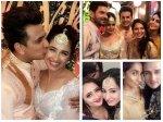 Priyank Sharma Keith Rochelle Tv Stars At Prince Narula Yuvika Chaudhary Sangeet Cocktail Party Pics