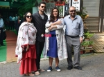 Neha Dhupia Angad Bedi Pose For A Family Photo For The First Time With Daughter Mehr