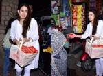 Sara Ali Khan Distributes Sweets Outside Temple Mum Amrita Singh Accompanies Her