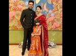 Aishwarya Rai Bachchan Looks Royal At Isha Ambani Wedding Spotted In Red Saree See Pictures