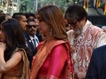 Amitabh Bachchan And Family Arrive At Isha Ambani Anand Piramal Wedding