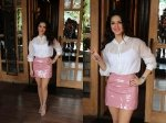 Sunny Leone Spotted Photo Shoot Cute Urban Girl Look