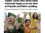 Sophie Turner Ends Up Being A Desi Meme In Priyanka Chopra Nick Jonas Wedding