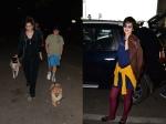 Raveena Tandon Spotted Walking Dogs Kalki Koechlin Quirky Airport Look