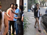 Varun Dhawan Poses Selfies With Fans After Workout Session Janhvi Kapoor Goes Shopping
