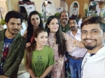 Sudeep Hosts Party The Bigg Boss Kannada Season 6 Contestants