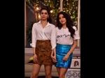 Janhvi Khushi Kapoor Stun Us With 80s Glam Outfits Neha Dhupia Chat Show