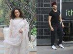 Kangana Ranaut Dressed Classily Manikarnika Interview Kartik Aaryan Sweats It Out At Gym