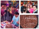 Kapil Sharma Team Celebrate Tkss Success Elkdtal Sonam Kapoor Bharti Call Kapil Wife His Lucky Charm