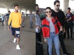Hardik Pandya Snapped At Airport Sunny Leone Hubby All Smiles At Airport