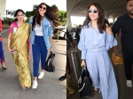 Deepika Padukone's Windswept Airport Look; Anushka Sharma Walks Into Airport With A Lovely Smile