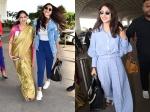 Deepika Padukone Windswept Airport Look Anushka Sharma Walks Into Airport With Lovely Smile