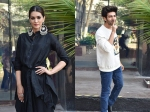 Kriti Sanon Looks Beautiful During Luka Chuppi Promotions; Kartik Aaryan Gets Cheeky: See Pics!