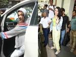 Shraddha Kapoor Spotted Post Photo Shoot Malaika Arora Smiles For Cameras After Gym