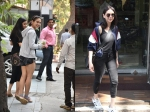 Sara Ali Khan Cute Smile To Cameras When Spotted Aditi Rao Hydari Snapped At Salon
