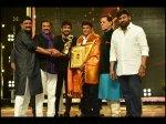 Tsr Tv 9 National Film Awards Balakrishna Shares The Stage Chiranjeevi Nagarjuna