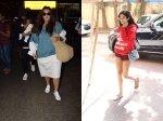 Neha Dhupia Angad Bedi Snapped Airport Baby Mehr Janhvi Kapoor Thursday Gym Look
