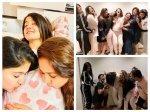 Surveen Chawla Pyjama Themed Baby Shower Was A Fun Affair Sharad Keerti Gazala Others Attend Pics