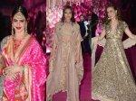 Rekha Sonakshi Sinha Elli Avram Make Heads Turn Azhar Morani Wedding