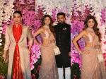 Shilpa Shetty Karisma Kapoor Karan Johar At Akash Ambani Shloka Mehta Wedding Reception