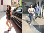 Janhvi Kapoor Steps Into Gym Looking Like Diva Mira Rajput Goes Shopping With Friend