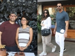 Aamir Khan Cuts Birthday Cake With Media Arjun Rampal Spotted With His Girlfriend Gabriella