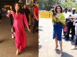 Sanya Malhotra Turns Photographer At India Gate Birthday Girl Janhvi Kapoor Returns To Mumbai