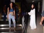 Janhvi Kapoor Looks Ethereal In All White Ensemble Rhea Chakraborty Snapped In Glittery Avatar