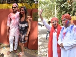 Farhan Akhtar & Shibani Dandekar Play Holi At Shabana Azmi's Holi Party: VIEW PICS!