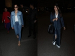 Katrina Kaif Sports All Denim Look To Airport Jacqueline Fernandez Looks Like Boss Lady