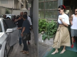 Jacqueline Fernandez Looks Beautiful When Snapped At Cafe Sanjay Dutt Also Spotted