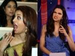 Awkward Funny Pictures Deepika Padukone Aishwarya Rai Snapped At The Wrong Time