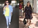 Aditi Rao Hydari Looks Very Pretty In Summer Dress Dia Mirza Sports Casual Look To Airport