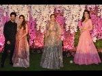 Shahid Kapoor Mira Rajput Malaika Arora Kriti Sanon Dazzle Akash Ambani Wedding Reception