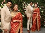 Arya Sayyeshaa Wedding Reception The First Photos The Couple Out