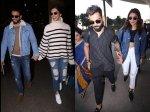 Deepika Padukone Ranveer Singh Anushka Sharma Virat Kohli Drop Major Couple Goals At Airport