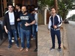 Saif Ali Khan Arbaaz Khan Pose For Pictures At An Event Varun Dhawan Gets Papped