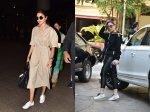 Anushka Sharma Dons Classy Look To Airport Kareena Kapoor Khan Looks Cool In Gym Look